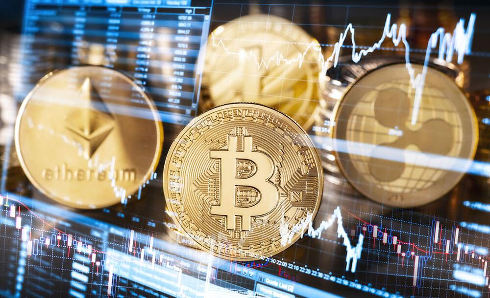 Untergang der Kryptowährungen Bitcoin in Fokus